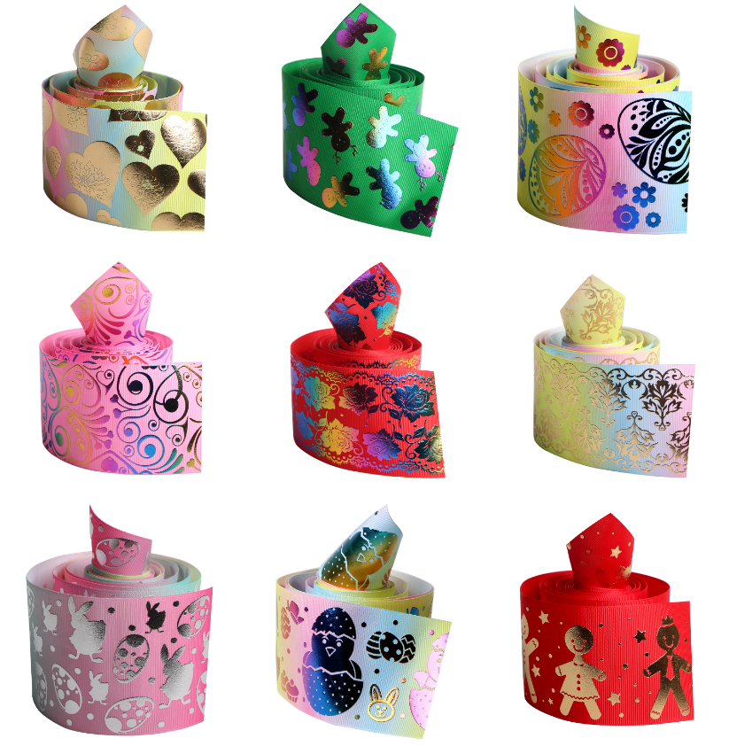 hot stamping grosgrain ribbon