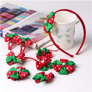 Girls hair bows custom grosgrain ribbon bow hair accessories sets