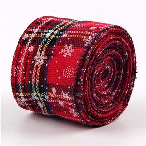 Print burlap ribbon Christmas ribbon custom