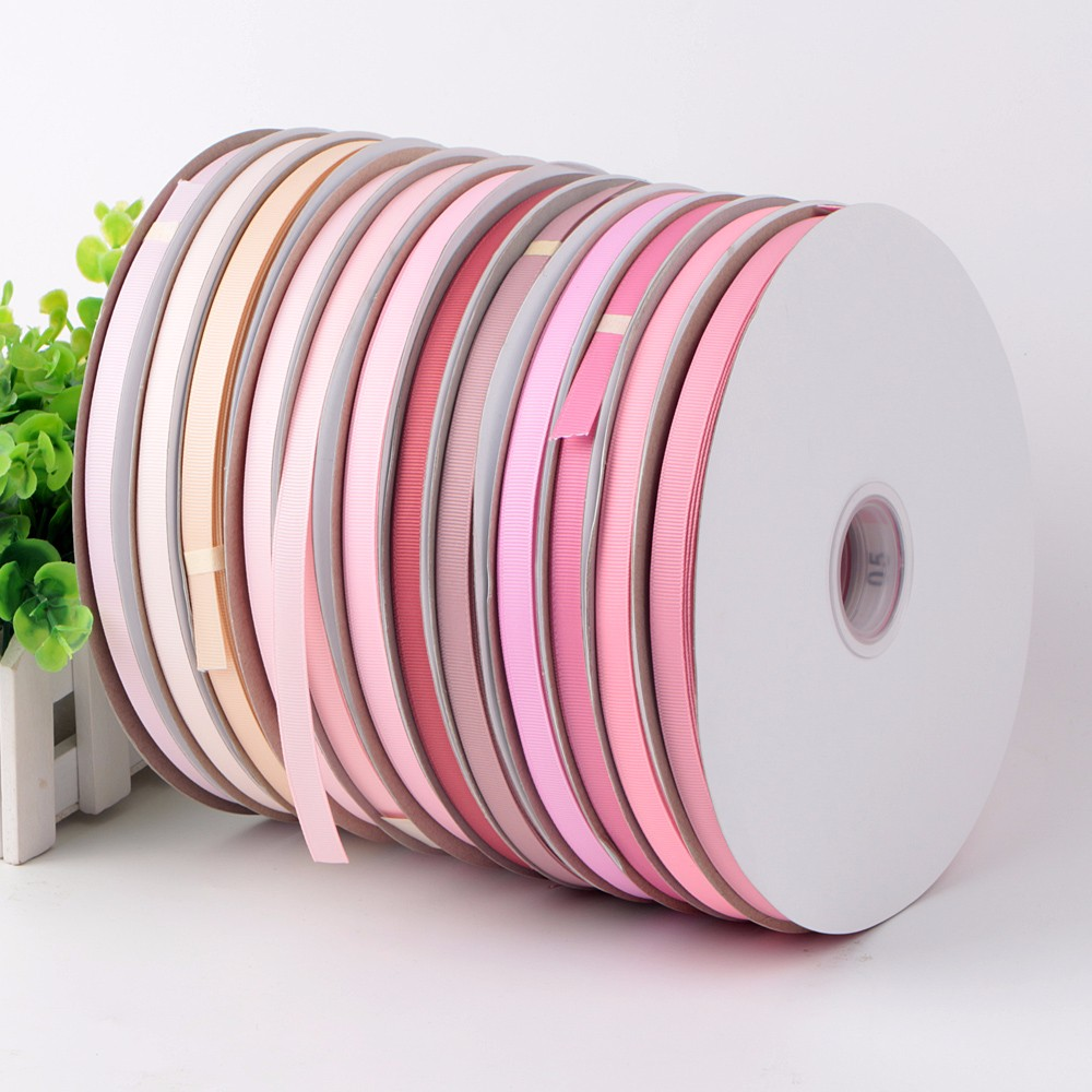 196 colors grosgrain ribbon wholesale 100yards packed Chinese supplier