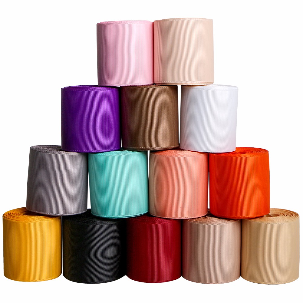 14pcs grosgrain ribbon 75mm custom color Chinese factory quote for amazon