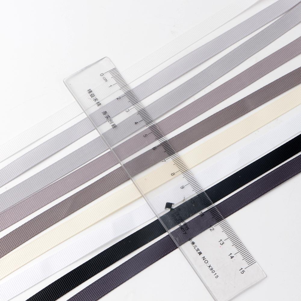 grey grosgrain ribbon