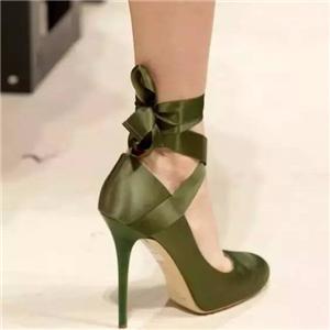 Ribbon application——strappy high heels