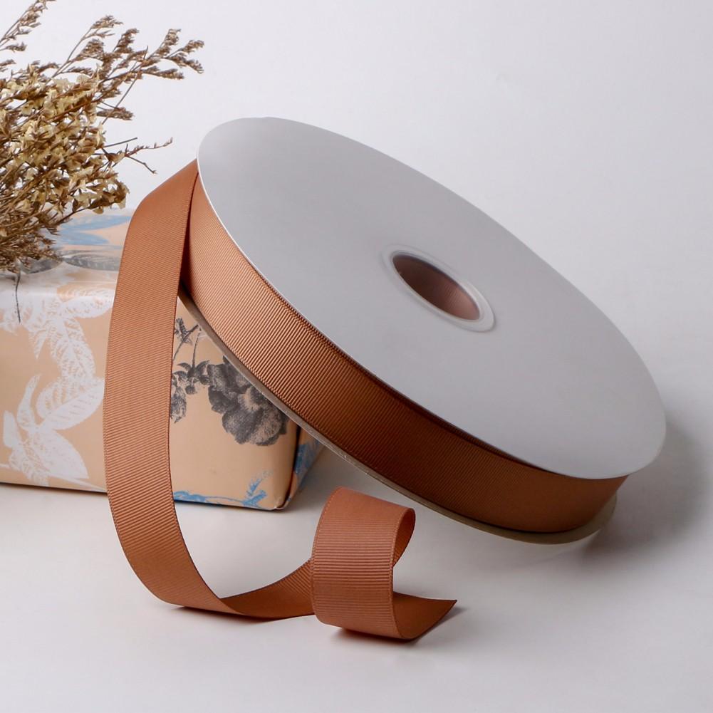 Brown grosgrain ribbon 25mm gift wrapping ribbon Manufacturers, Brown grosgrain ribbon 25mm gift wrapping ribbon Factory, Supply Brown grosgrain ribbon 25mm gift wrapping ribbon