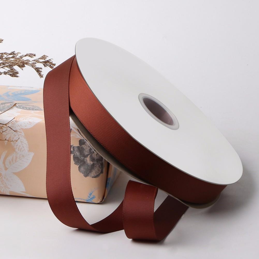 Cinta de grosgrain marrón 25mm cinta de regalo