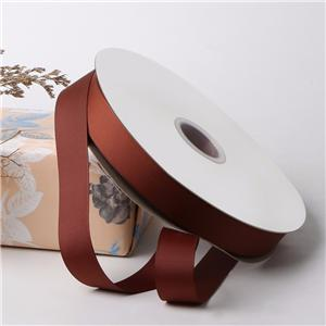 Brown grosgrain ribbon 25mm gift wrapping ribbon