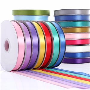 Single face satin ribbon 9mm wholedale ribbon for gift box