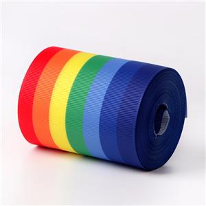 Multi colors 75mm grosgrain ribbon heat transfer ribbon 3 inch