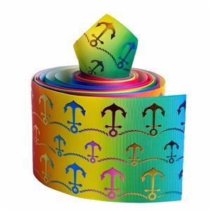 Fita de gorgorão personalizada com fita de impressão única face 75mm para decoração festvial