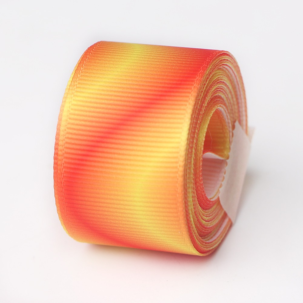 50mm,75mm,100mm heat transfer ribbon custom grosgrain ribbon 5yards