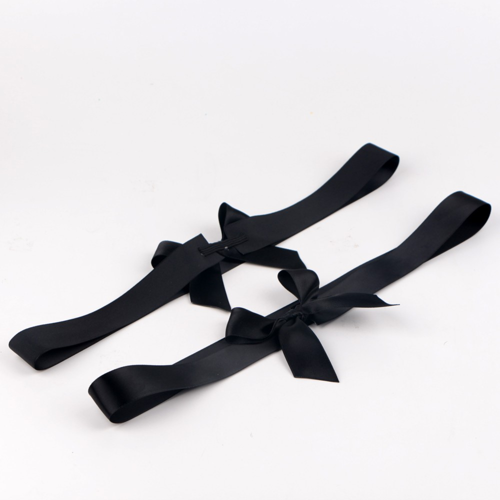 Black gift ribbon bow custom satin ribbon for box wrapping