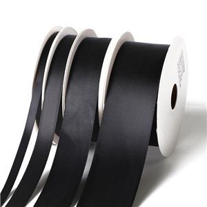 블랙 새틴 리본 도매 100 야드 롤 포장 리본