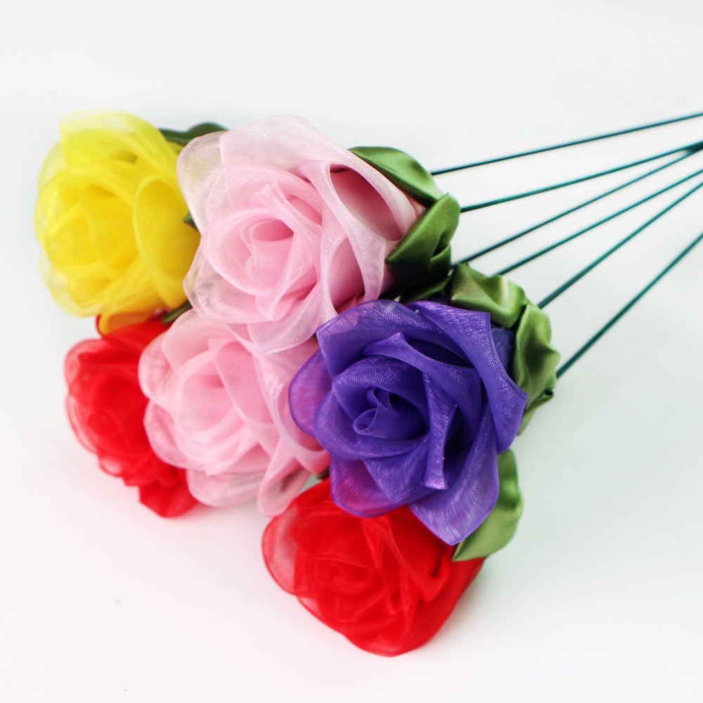 organza ribbon flowers