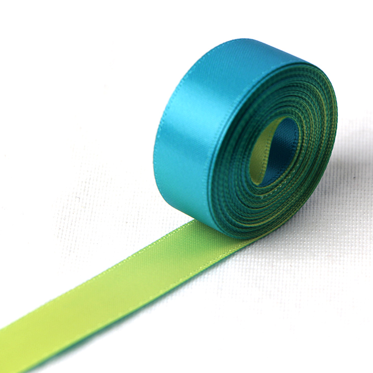 Two color satin ribbon