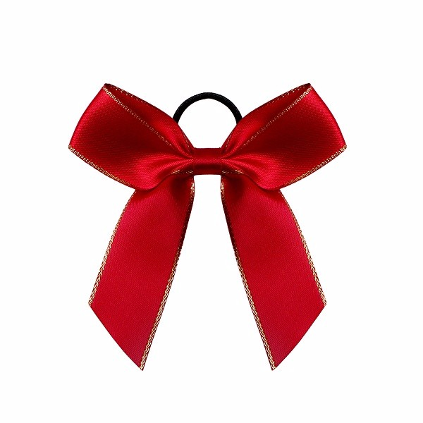 Red satin ribbon handmade bottle bow packaging ribbon bow