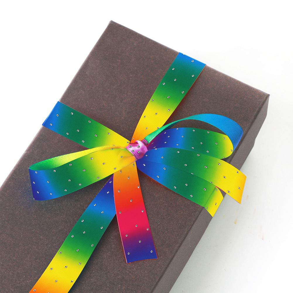grosgrain rainbow ribbon