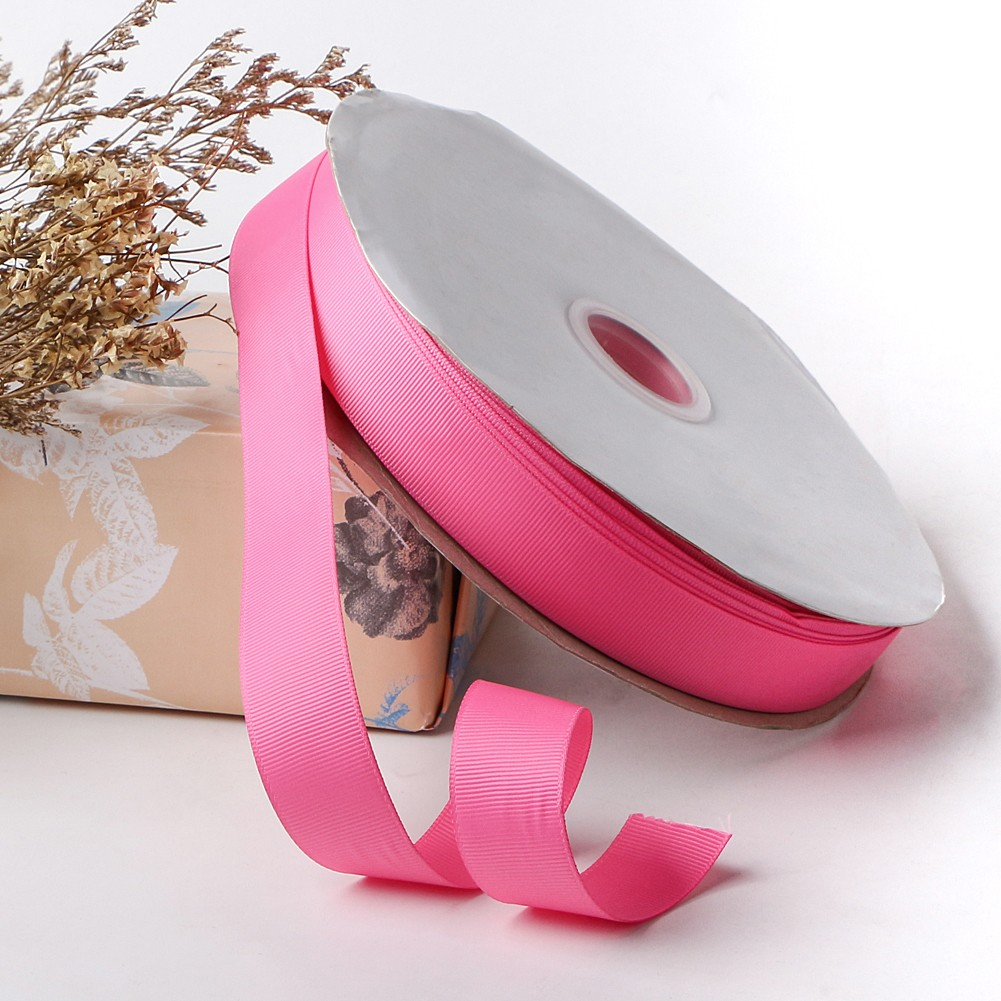 Hot sell pink grosgrain ribbon wholesale 100yard