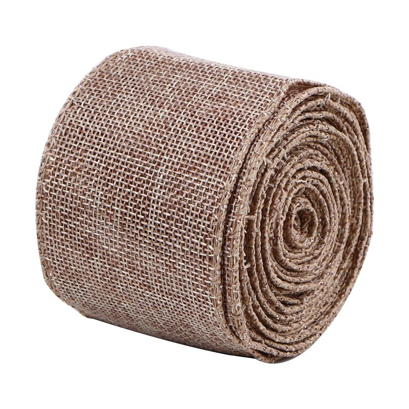 Custom burlap ribbon by the roll jute burlap ribbon