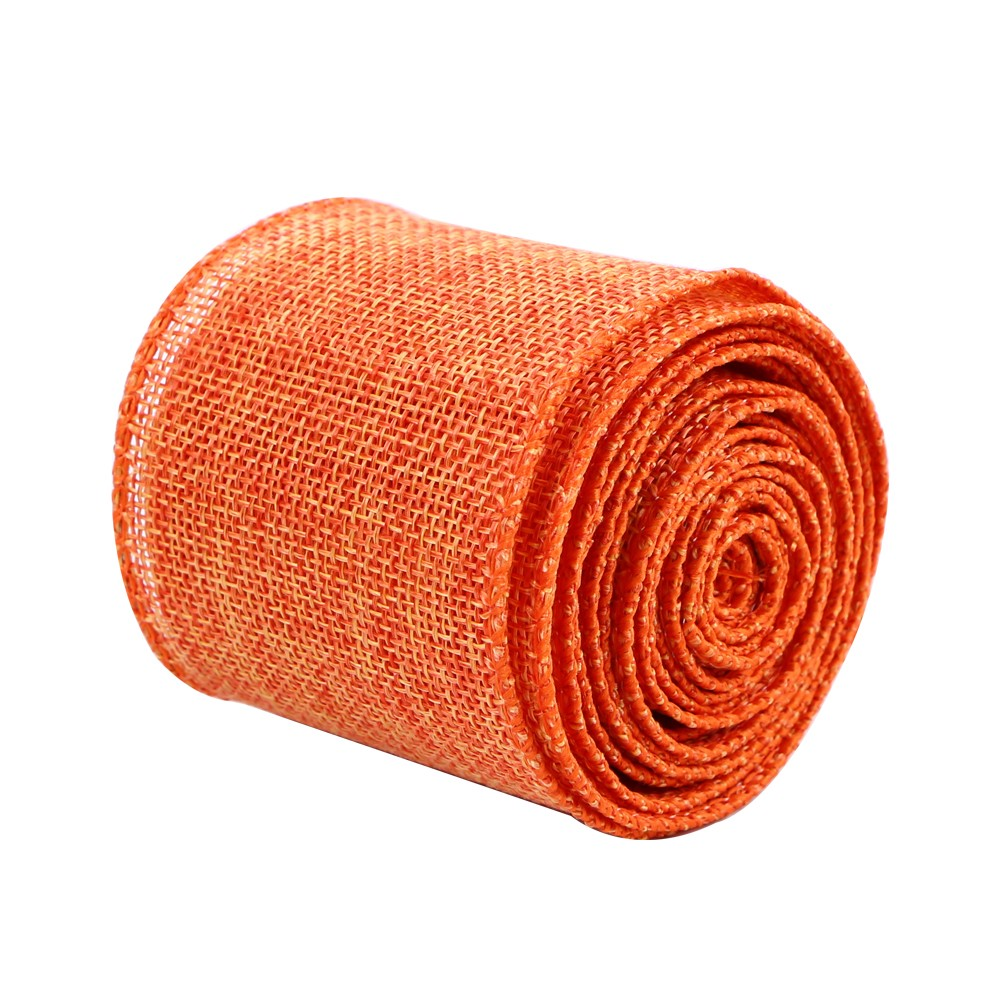 Solid color jute burlap ribbon 63mm Manufacturers, Solid color jute burlap ribbon 63mm Factory, Supply Solid color jute burlap ribbon 63mm