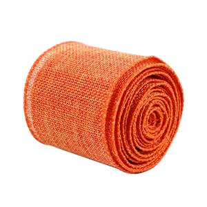 Solid color jute burlap ribbon 63mm