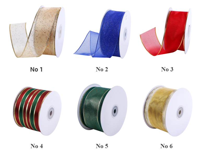 organza ribbon with wire