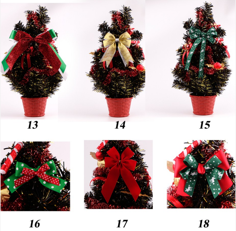 ribbon bow for Christmas tree decorations