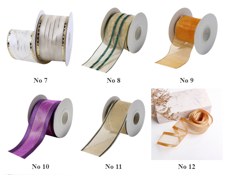 factory wholesale wire edged organza ribbon