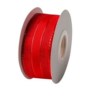 Red organza ribbon with wire packing ribbon decorative ribbon