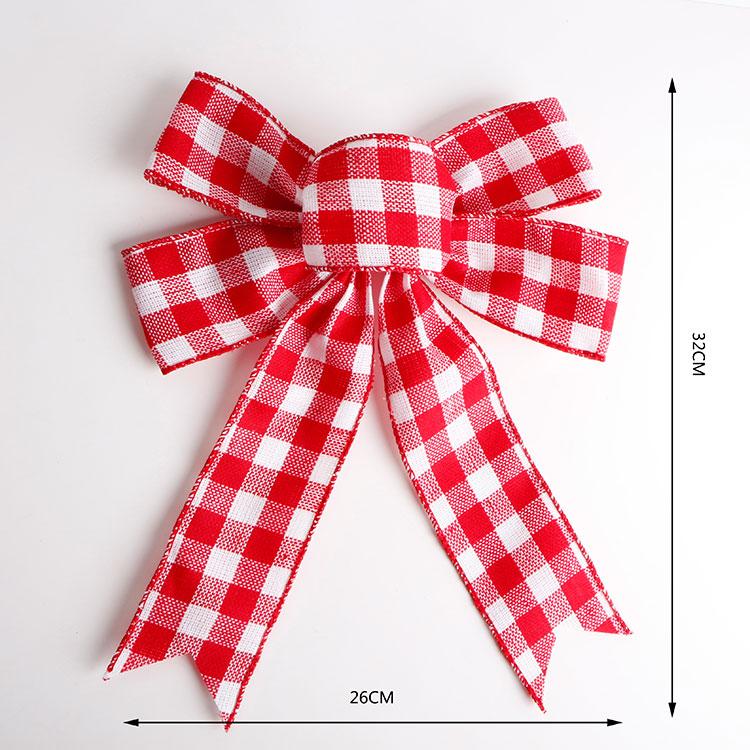 Wedding decoration burlap ribbon bow