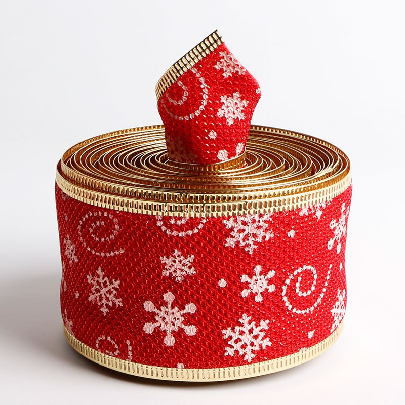 Custom burlap ribbon printed wire edge Christmas ribbon Manufacturers, Custom burlap ribbon printed wire edge Christmas ribbon Factory, Supply Custom burlap ribbon printed wire edge Christmas ribbon
