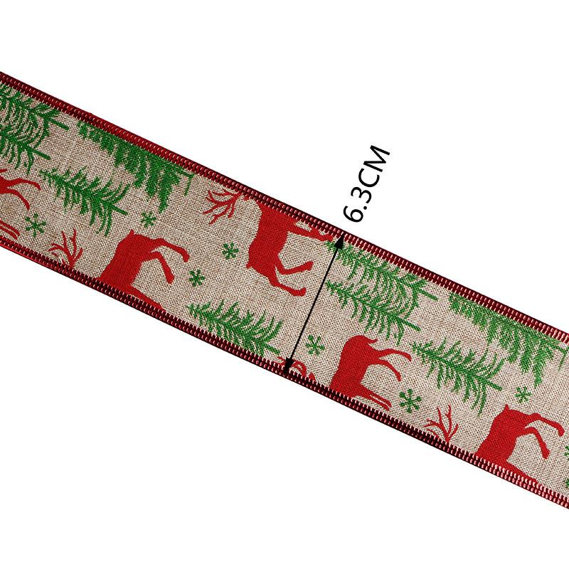ruban de toile de jute avec le bord du fil
