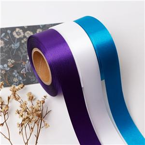 Cut/embossed edge satin ribbon custom polyester ribbon wholesale