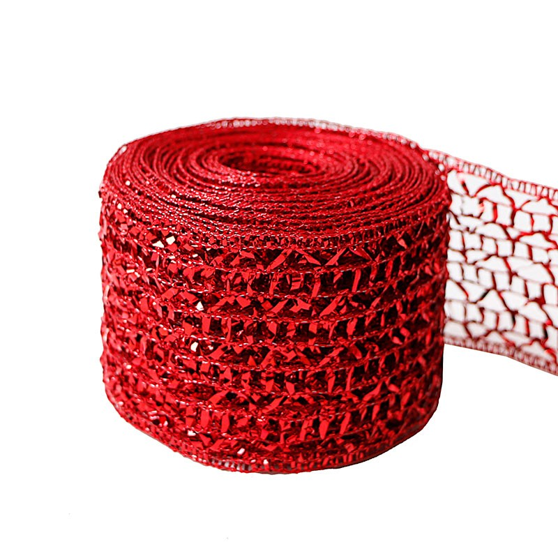 wired organza Ribbon,organza Ribbon 63mm,red organza ribbon