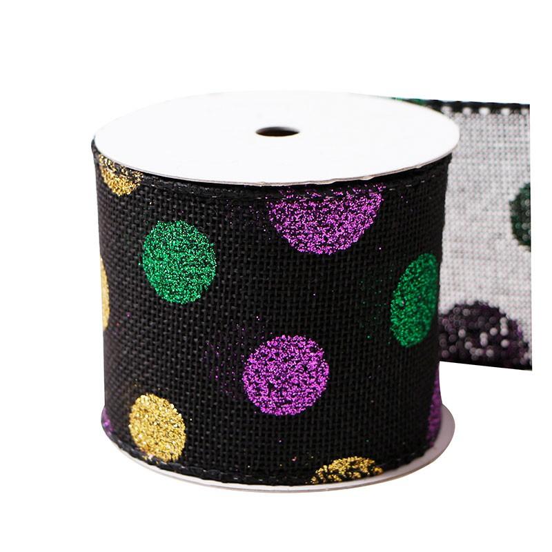 burlap ribbon,printed burlap ribbon,burlap ribbon 63mm