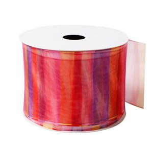 Colorful organza ribbon custom ribbon for decoration