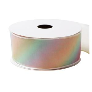 Rainbow organza ribbon custom organza ribbon wholesale
