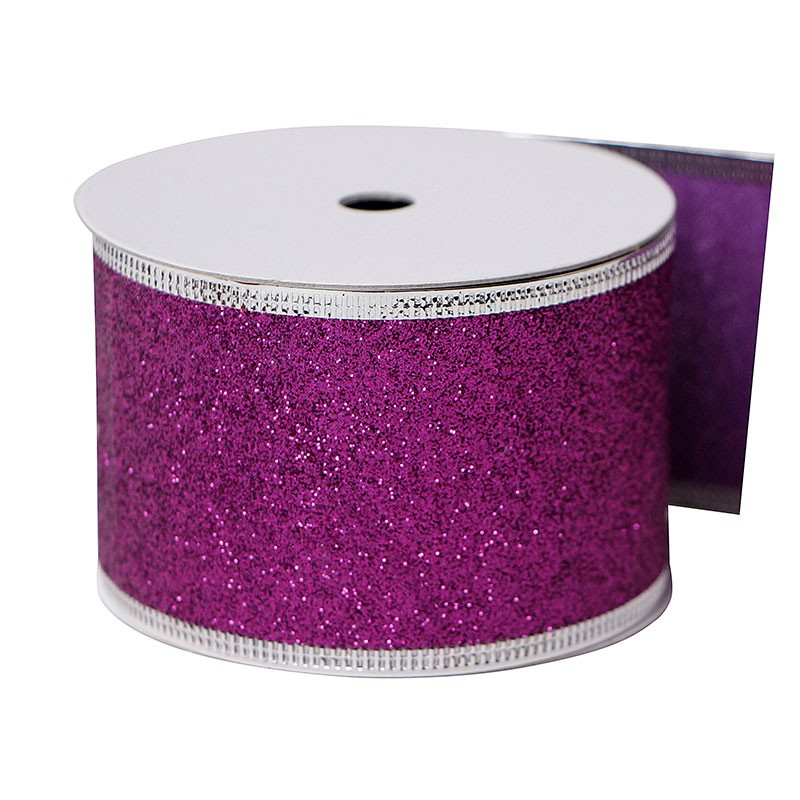 custom glitter ribbon,Wire edged ribbon, ribbon custom glitter