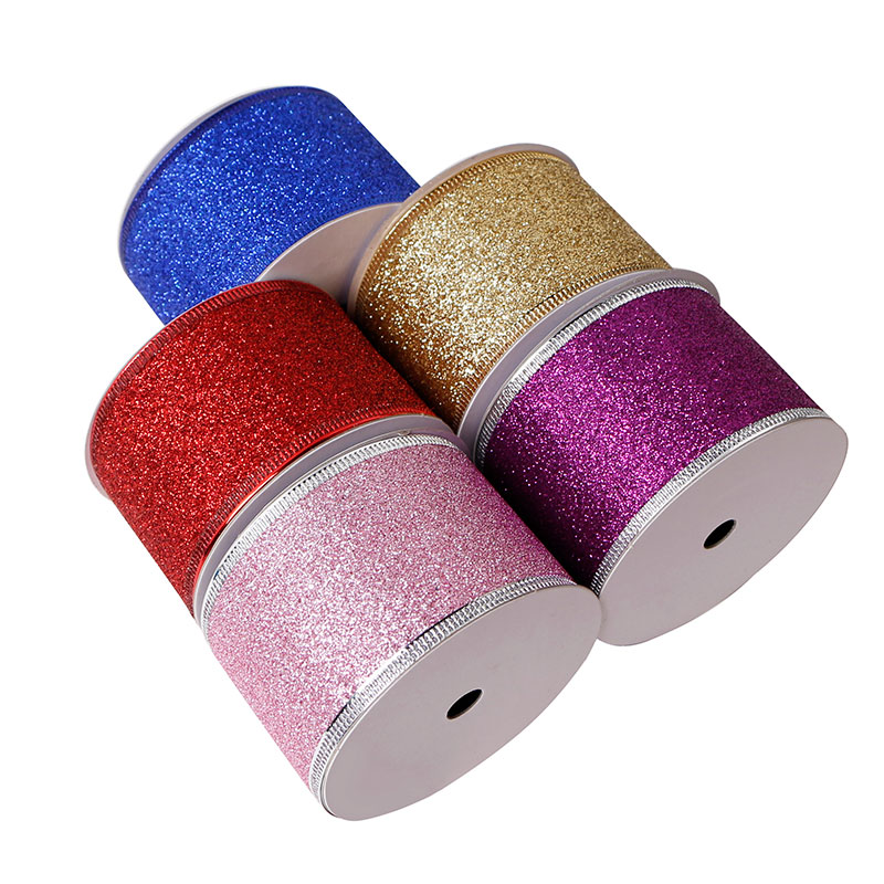 custom glitter ribbon