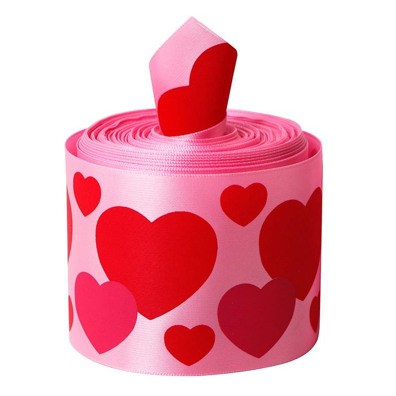 Encargo de satén cinta impresa, cinta impresa para el día de San Valentín de, satén cinta impresa