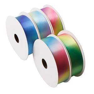 Custom satin rainbow ribbon gradient rainbow ribbon manufactuer