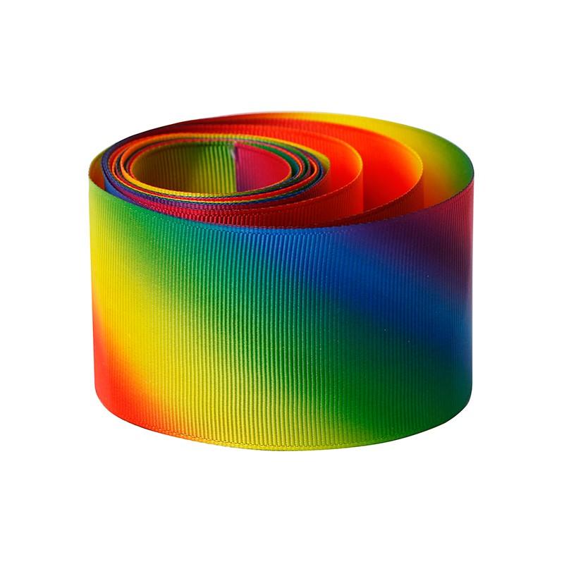 fita arco-íris personalizado 2 polegadas Gorgurão fita impressa