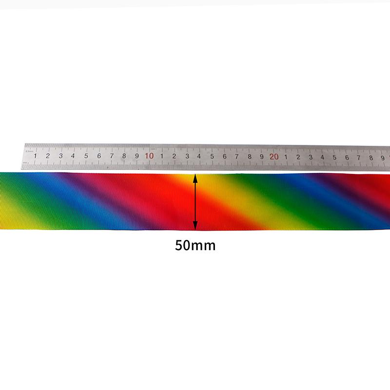 grosgrain rainbow ribbon