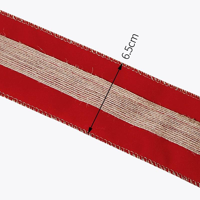 Ruban de velours rouge, ruban de velours pour la décoration de Noël, ruban de velours simple face