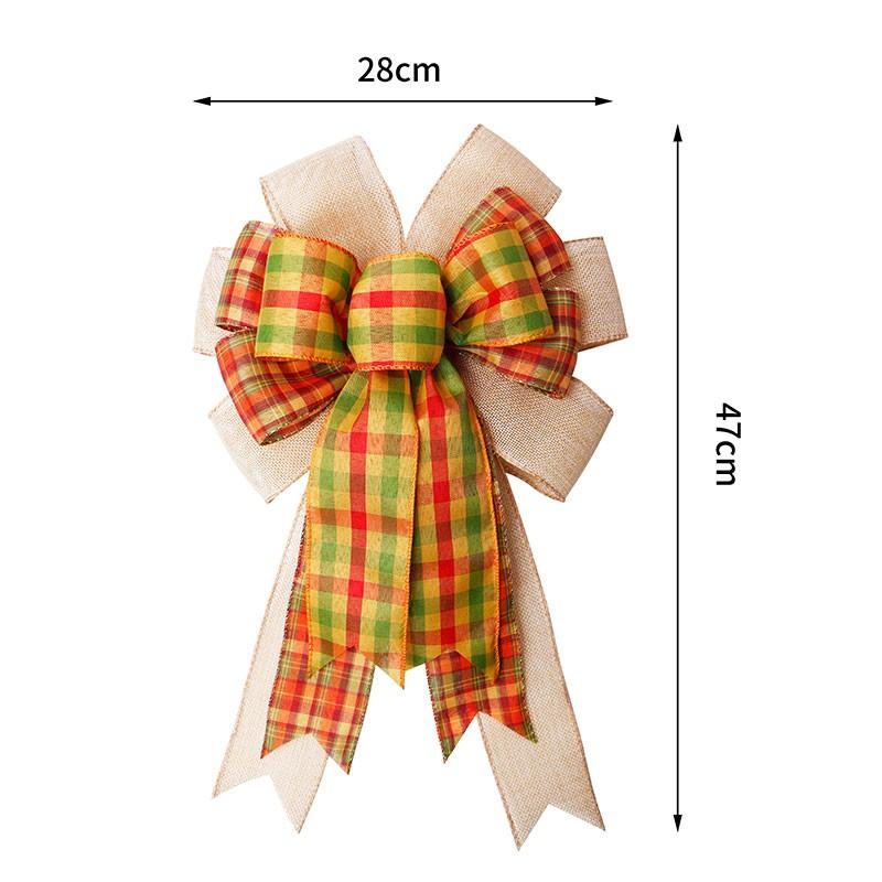 사전 만든 크리스마스 활, 삼 베 리본 활, 크리스마스 장식 활