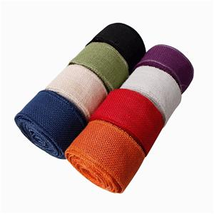 Solid color burlap ribbon 63mm burlap ribbon wholesale