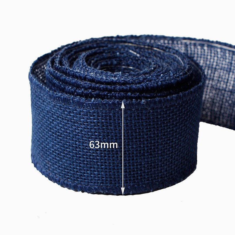 Solid color burlap ribbon, 63mm burlap ribbon wholesale
