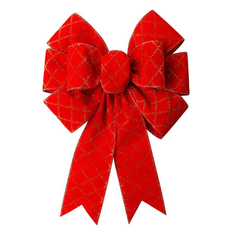 Custom ribbon bow pre made red ribbon bow