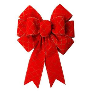 Custom ribbon bow pre made red ribbon bow