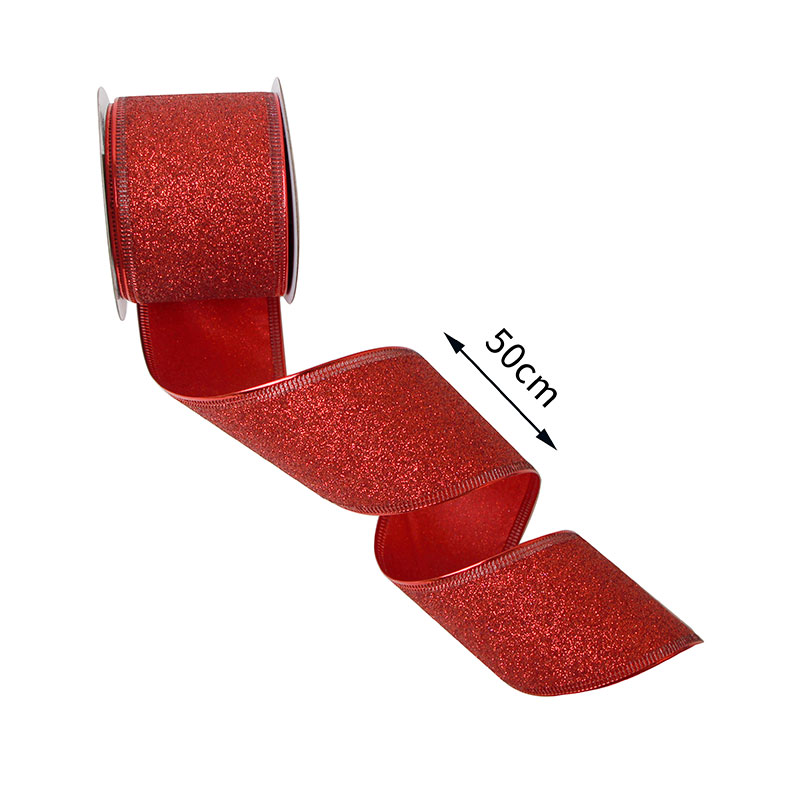 glitter ribbon for holiday decoration