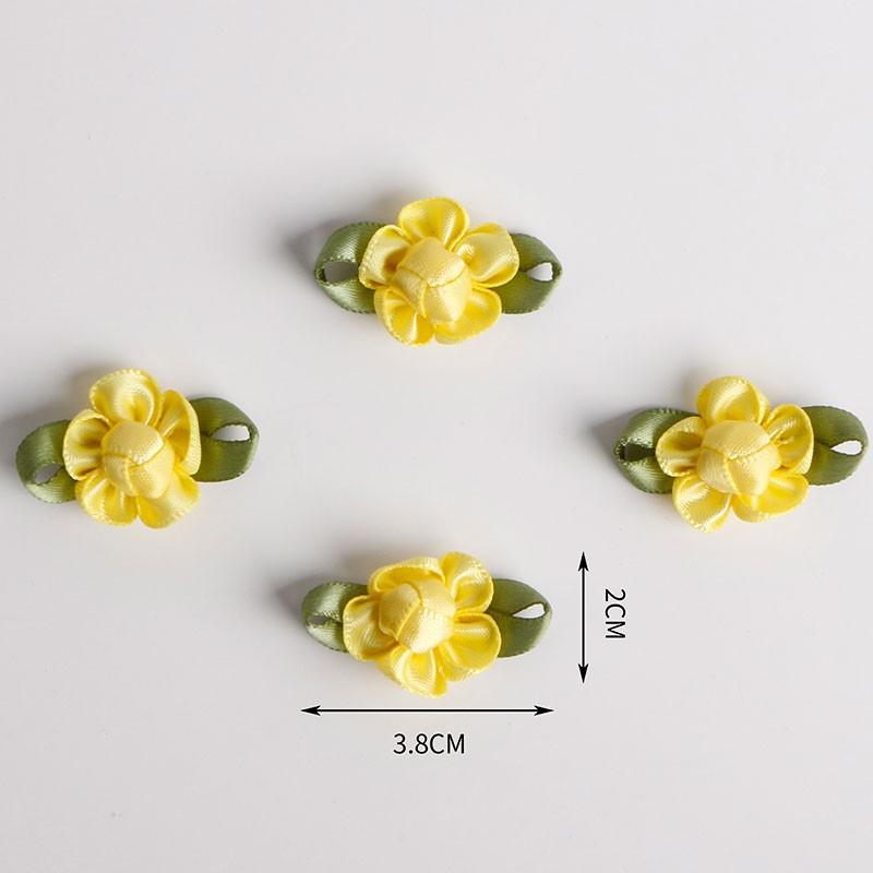 Mini fiocco di nastro in raso prefabbricato fiore personalizzato per la decorazione della biancheria intima